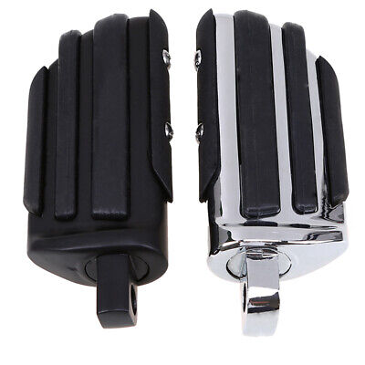 2PCS Footfrest Foot Pegs Pedals Universal Fit For Harley Dyna Fatboy Sportster • 36.99£