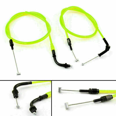 Throttle Cable Push/Pull Wire Line Gas Fits Honda CB400 VTEC 1999-2012 YELLOW • 22.39£