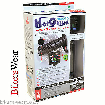 Oxford Hot Grips Premium Sports Heated Hot Grips Motorcycle Winter Grips - OF692 • 48.50£