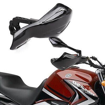 1pair Of Universal 7/8'' 22mm Motorcycle Handguards Hand Guards Protectors Black • 10.99£