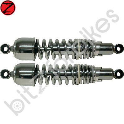 Shock Absorbers Chrome Kawasaki Z 250 G2 LTD 1981 • 77.99£