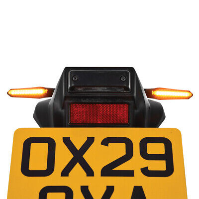 Oxford Night Rider Streaming Indicators Motorcycle Road Legal OX621 • 32.90£