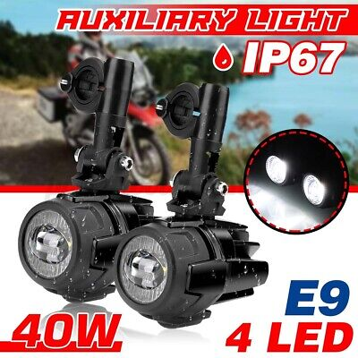 Motorcycle LED Auxiliary Spot Fog Light Safety Driving Spotlight For BMW R1200GS • 46.59£