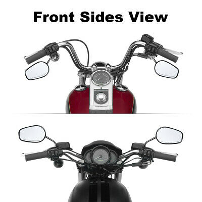 Universal Zinc Alloy Oval Rear View Mirror Fit For 8mm Harley Street Road King • 22.99£