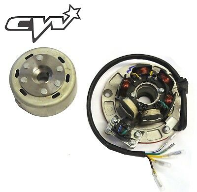 Pit Bike Race Ignition 12v Stator Plate Lighten Flywheel 5 Wire Outer Rotor. • 44.99£