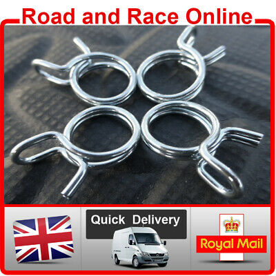 Motorcycle Fuel Line Petrol Pipe Fuel Hose Clips / Clamps 8mm Spring Wire Type 4 • 2.25£
