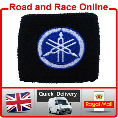 Small Yamaha Rear Brake / Clutch Reservoir Sock Cover Shroud Embroidered Cotton • 5.90£