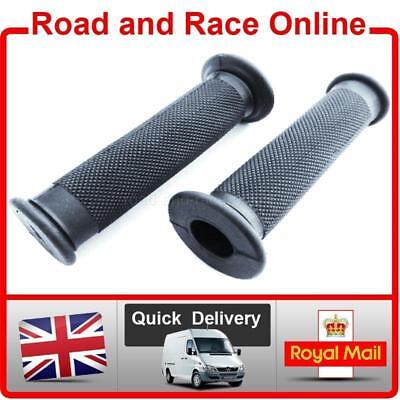 Pair Motorcycle Handlebar Grips Black With Closed Ends For Use Without Bar Ends • 6.99£