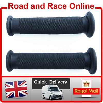 Replacement Motorcycle / Motorbike Handlebar Grips In Black Closed End Soft Comp • 6.99£