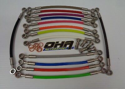 OHA Stainless Braided Front Brake Line Kit For Triumph Speed Triple 1050 05-10 • 39.99£