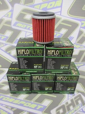 5 X NEW Hiflo Premium Oil Filter HF141 For Yamaha YZ450F YZF450 2003-2008 • 16.20£