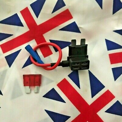 ⭐ 12V Car Add-a-circuit Fuse Adapter ATM APM Piggy Back 10A Fuse Included ⭐ UK ⭐ • 2.99£