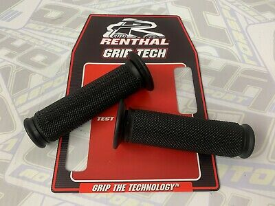 Renthal Dual Layer Compound Motorcycle Road Street Handlebar Grips - G211 BLACK • 13.99£