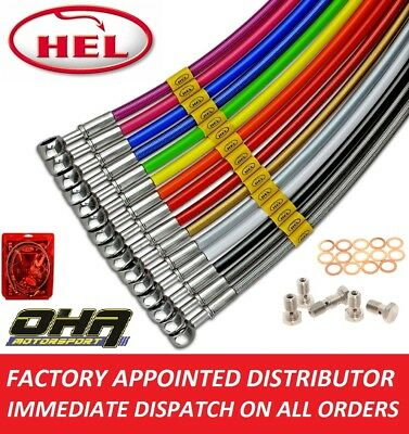 HEL Stainless Braided Front & Rear Brake Lines For Yamaha YZF R1 2007 2008 • 89.99£