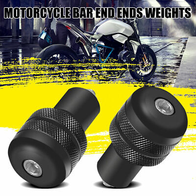 Universal Motorcycle Round Bar End Weight Plugs Sliders 13/18mm Black 22mm • 6.99£