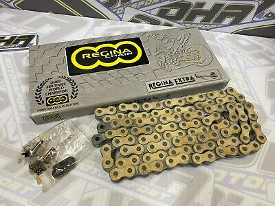 Regina 520 Heavy Duty Motorcycle Drive Chain With Split Link - 102 Links GOLD • 27.99£