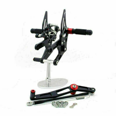 Rearsets Footpegs Pedals Fit For Yamaha YZF-R6 RJ11 RJ15 2006-2016 Black • 133.07£