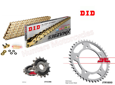 Suzuki GSF1250 SA Bandit DID Gold & Gold ZVMX-Ring Chain And JT RB Sprocket Kit  • 124.94£