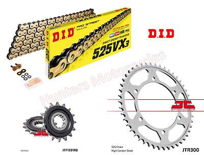 Yamaha TDM900 DID Gold X-Ring Heavy Duty Chain And JT Quiet Sprocket Kit Set • 89.94£