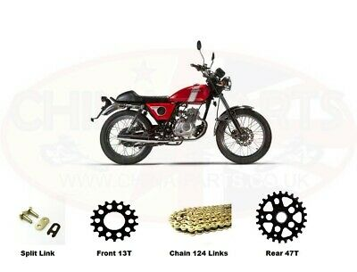 Mash Fifty 50 Roadstar GOLD Heavy Duty Chain And Sprocket Kit • 37.99£