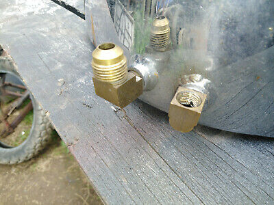 Harley Oil Tank Feed And Return Line Brass Right Angle Fitting.Project Chopper  • 10£