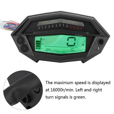 Motorcycle Speedometer Digital Rev Counter For Odometer Gear Indicator For Z1000 • 17.22£