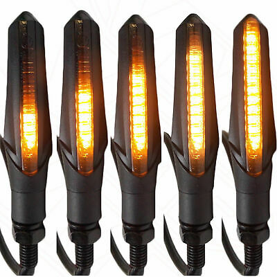 Yamaha MT-07 Sequential Indicators LED Pair Blacked Out Smoked Sweep • 18.95£
