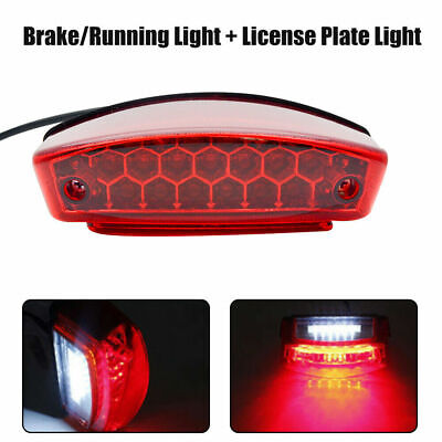 1x Motorcycle Rear Tail Brake Light Stop License Plate Light 12V Universal New • 11.85£