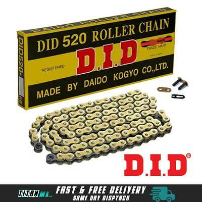 DID Gold & Black Motorcycle Chain 520 120 Link With Split Link Motocross YZ KTM  • 34.99£