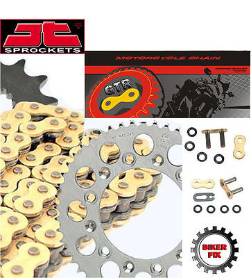 FITS Yamaha RD350 LC 80-82 GOLD Extra Heavy Duty X-Ring Chain And Sprocket Set K • 96.95£