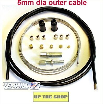 Venhill Universal Throttle Cable  MX, Enduro,Trials, Motorcycle Kit  U01-4-101 • 10.39£