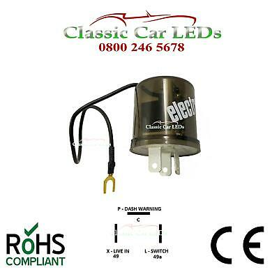 6v Electronic Indicator Flasher Relay Motorcycle With Oe Click X L P 2 / 3 Pin • 14.45£