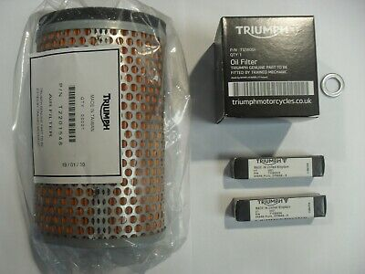 TRIUMPH THRUXTON / SCRAMBLER SERVICE KIT With Filters GENUINE PARTS AIR COOLED • 43.99£