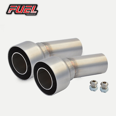 PAIR Of Removable Baffles / DB Killers To Fit 57mm I.D Angled Outlet Exhausts • 39.99£