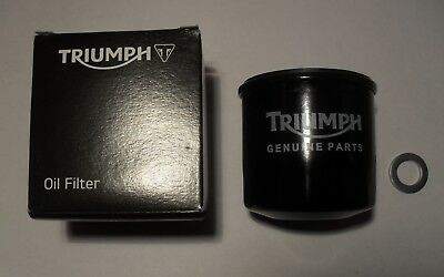 GENUINE TRIUMPH OIL FILTER With SUMP PLUG WASHER T1218001 & T3558989 • 13.99£