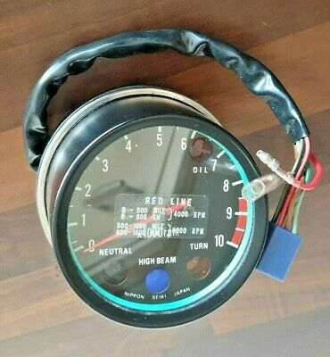 NOS Kawasaki KE 175D Rev Counter P/N 25015-1045 - Excellent Condition • 120£