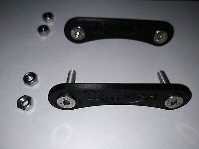 Triumph Speed Triple Pillion Footrest Removal Kit Black Complete With Fixings.  • 8.75£