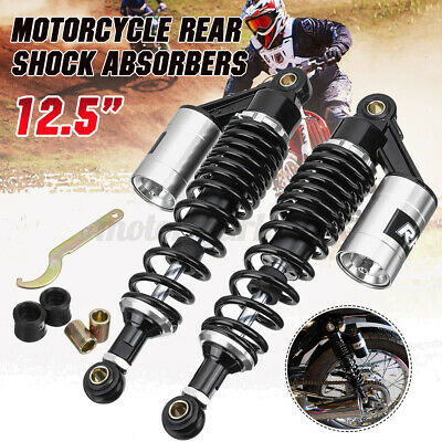 2X 12.5'' 320mm Motorcycle Rear Air Shock Absorbers Suspension For Yamaha Honda • 46.99£