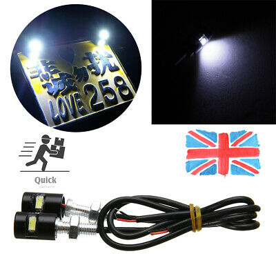 2x 12V Number Plate Light Screw Bolt Bulbs Universal For Car Motorcycle SMD LED • 4.48£