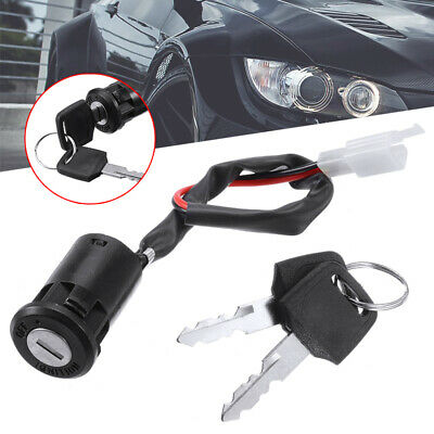 Motorcycle Ignition Barrel Switch 2 Wire Type On Off With 2 Keys • 3.59£