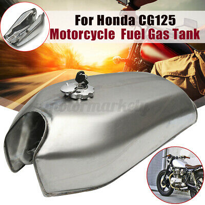 9L 2.4 Gal Motorcycle Fuel Gas Tank For Honda CG125 AA001 Cafe Racer Bare Steel • 45.13£