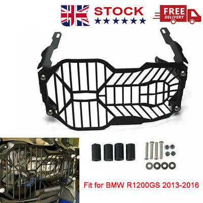 1 X Motorcycle Headlight Grill Cover & Mounting Hardware Fit BMW R1200GS 2013-16 • 28.99£