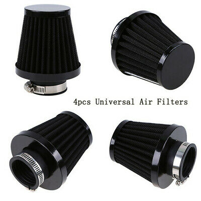 4x 34/35/36mm Motorcycle Scooter ATV Adjustable Air Intake Filters Pod Cleaner • 23.99£