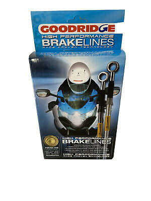 Goodridge Stainless Braided Front & Rear Brake Hoses Kawasaki ZX7R ZX7RR 96-03 • 72£