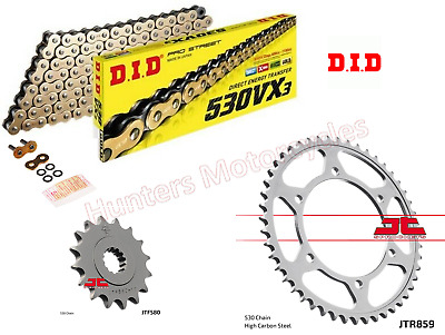 Yamaha YZF1000 Thunderace DID Gold X-Ring Chain And JT Sprockets Kit Set • 89.49£