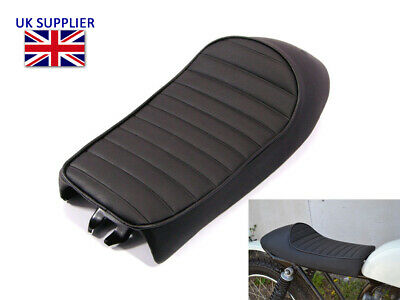 Black Motorcycle Seat Saddle For Scrambler Brat Bike Cafe Racer Streetfighter • 55.92£