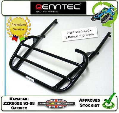 New Renntec Sports Rack Luggage Carrier Black Fits Kawasaki ZZR600E 1994 To 2007 • 104.95£