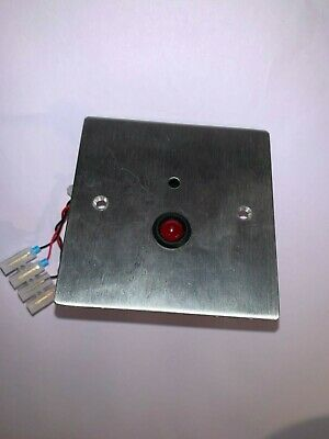 Single Gang Face Plate With Red LED And Buzzer Indicator • 9.50£
