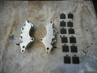 Motorcycle Front Calipers (pair) Billit 6 Pots Classic Cafe Racer Etc • 225£