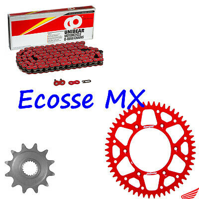 HONDA CRF250R RED Unibear Heavy Duty Chain And Supersprox Red Sprocket Kit • 67.99£